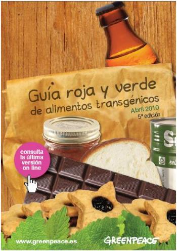 guia roja y verde de alimentos transgénicos