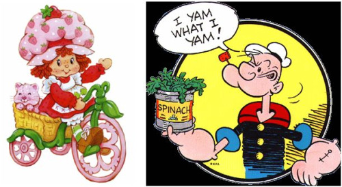 tartita de fresa y popeye