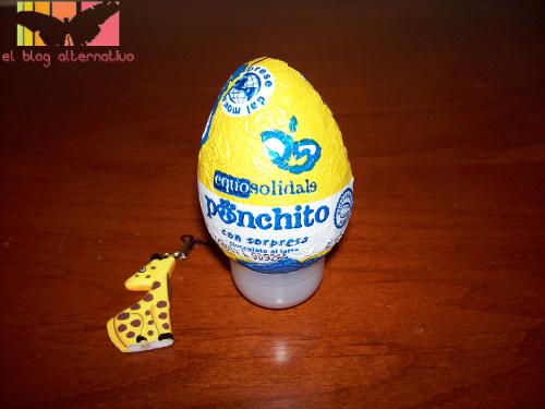 huevo de  chocolate con sorpresa Ponchito
