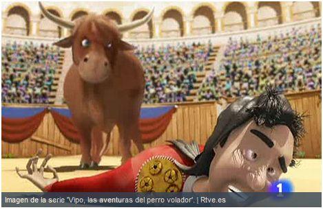 toros - Dibujos animados anti-taurinos: otra visión del héroe de las corridas de toros