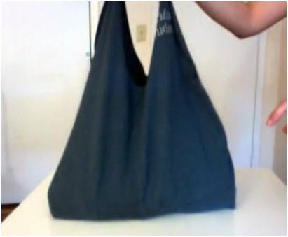 bolso - Cómo hacer un bolso con una vieja camiseta