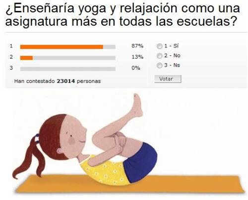 yoga - ¿Enseñaría yoga y relajación como una asignatura más en todas las escuelas?