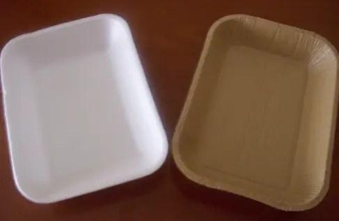 Bandeja plástica vs bandeja cartón reciclado