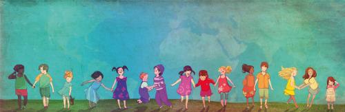 hijos-de-colores: libro de aopción. Ilustración Conrad Roset
