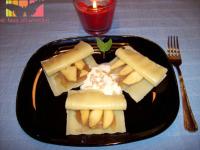 raviolis de manzana y cebolla confitada