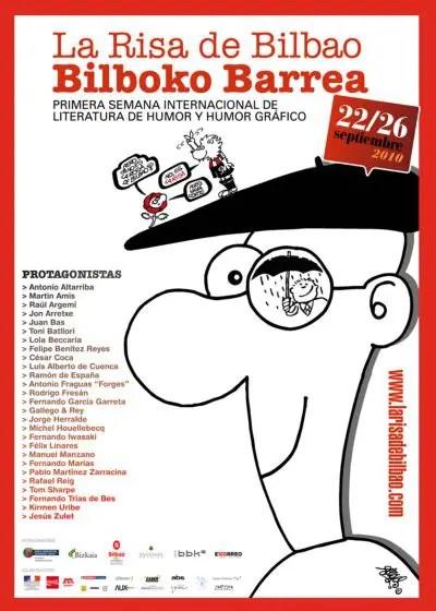 cartel la risa de bilbao grande - LA RISA DE BILBAO: I Semana Internacional de literatura de humor y humor gráfico