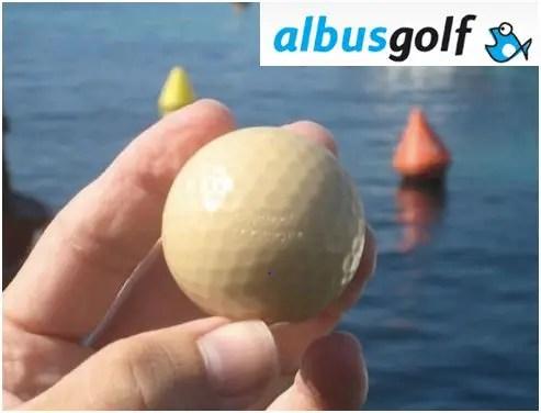 pelota golf -  Ecobioball: pelota de golf ecológica con comida para peces