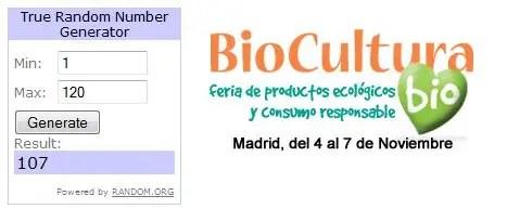 Ganadores sorteo Biocultura Madrid 2010 - Ganadores del sorteo de entradas para Biocultura Madrid 2010