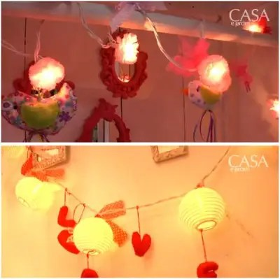 LUCECITAS - Decorando con manualidades de lucecitas de Navidad