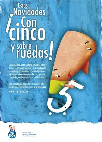 Cartel Campaña de navidad 2010 fundación carreras