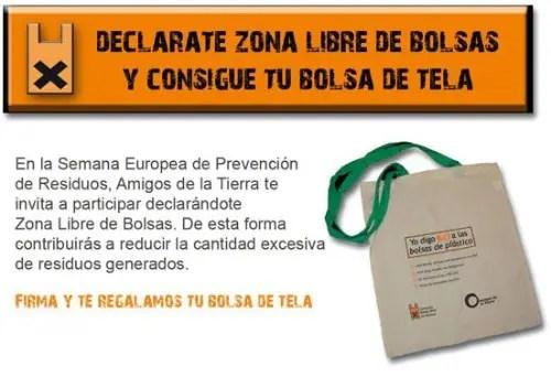 bolsab - Declárate zona libre de bolsas y te regalan una bolsa de tela