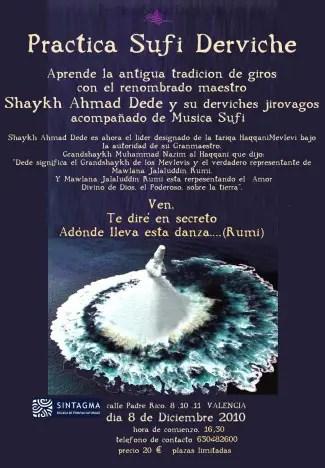 cartel sufi valencia derviche