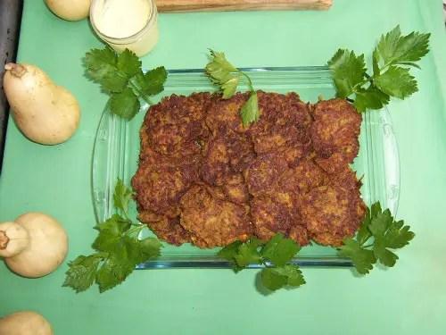 tempura de calabaza y patata