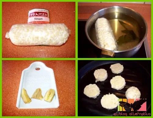 tempeh collage1 - Receta de tempeh con salsa Teriyaki