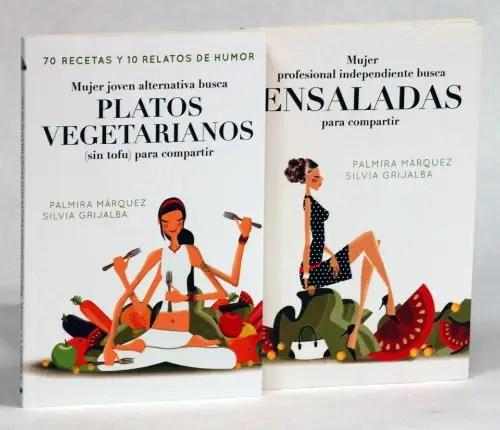 mujer alternativa platos vegetarianos