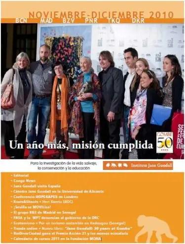 """jane - """"Debemos crear líderes más éticos para sobrevivir"""": crónica de la visita de Jane Goodall a España y boletin"""