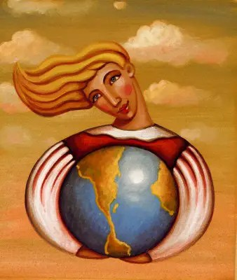 quererse21 - A woman encircling the earth