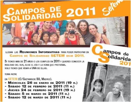 setem - Campos de solidaridad 2011: reuniones informativas en Madrid