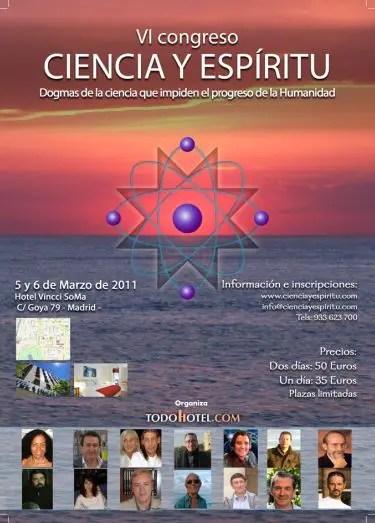 6o congreso Madrid - VI Congreso Ciencia y Espíritu: Madrid, 5 y 6 de marzo 2011