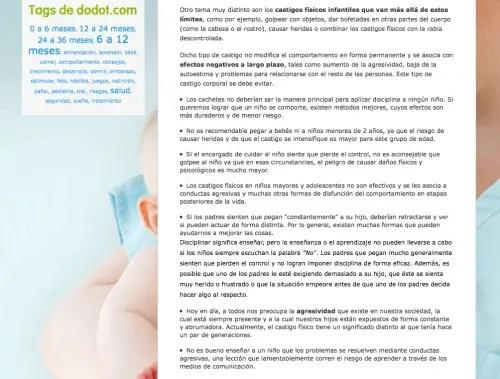 artículo dodot violencia 2peq - Dodot aconseja sobre cómo pegar a los niños en su web y la red le obliga a rectificar