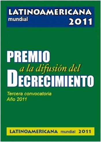 premio difusión decrecimiento