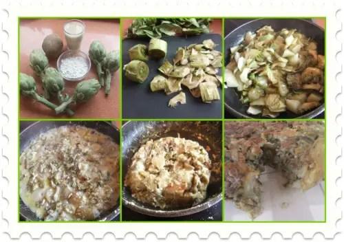 Collage de Picnik - Receta de tortilla de alcachofas sin huevo