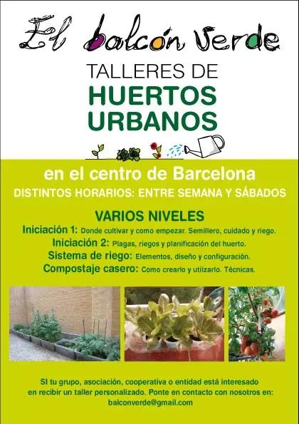 El Balcon Verde Talleres Huertos Urbanos Cartel tamaño original - El Balcon Verde - Talleres Huertos Urbanos - Cartel tamaño original
