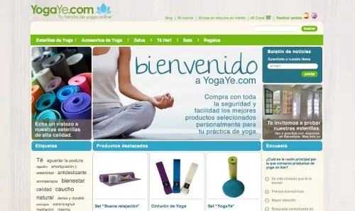 YogaYe Homepage2 - YogaYe.com: pasión por el yoga. Entrevistamos a sus creadores
