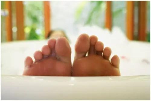 pies bañera