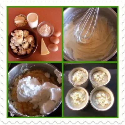 souflecollage - Receta de suflé de coliflor con queso