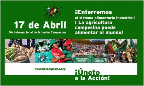 lucha campesina - Semana de Lucha contra los transgénicos y por la soberanía alimentaria: 11-17 de abril 2011 y Llamamiento de la Vía Campesina a nivel mundial