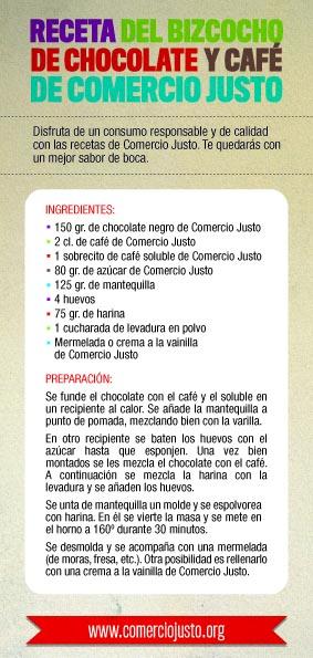 RECETA COMERCIO JUSTO - Con el Comercio Justo cada uno tiene la parte del pastel que le corresponde: Día Mundial del Comercio Justo