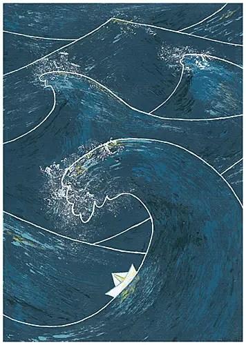 barco papel - Llámame Clara: el trabajo de una ilustradora y artista plástica bohemia