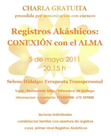 cartel registros - Charla gratuita de Registros Akáshicos en la provincia de Zaragoza