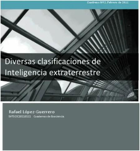 clasificaciones d einteligencia extraterrestre - I Congreso de Exociencia 2011 en Valladolid. ¿Realmente piensas que estamos solos?