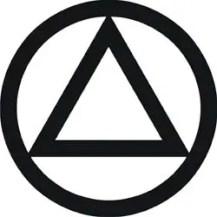 triángulo en círculo