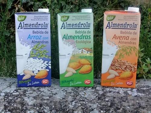 Almendrola ecologica - Bebidas de almendras arros y avena