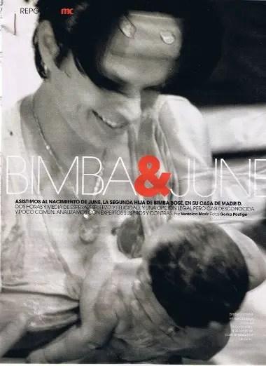 bimba1 - El parto en casa de la modelo española Bimba Bosé: relato y datos