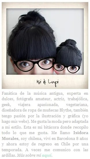 """lupi1 - """"Yo vivo el día a día tratando que cada momento sea lo más bonito posible"""". Entrevista a la diseñadora Isidora Morales"""