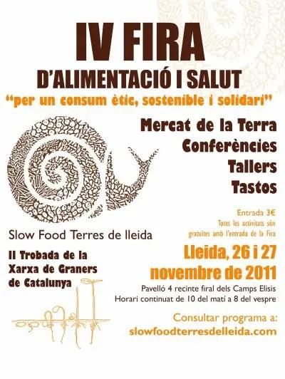 cartell iv fira sense colc2b7laboradors copia - IV Feria de Alimentación y Salud de Lérida: una feria para la desobediencia civil alimentaria