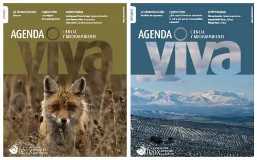Collage de Picnik - Agenda Viva nº 25 y 26: revista de divulgación científica, social y ambiental