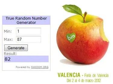Ganadores sorteo entradas Biocultura Valencia 2012