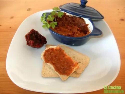 pesto - Receta de pesto rojo de tomates secos