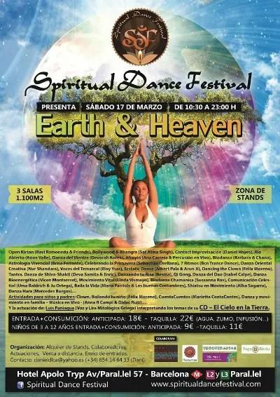 Cartel Spiritual Dance Festival Earth Heaven Blog22 - Spiritual Dance Festival en Barcelona, 17 de marzo 2012