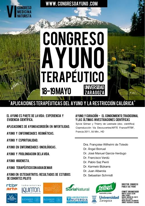 cartel congreso ayuno - Congreso Ayuno Terapéutico en la Universidad de Zaragoza