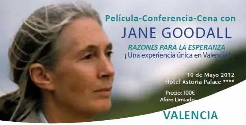 jane goodall1 - Jane Goodall en Barcelona y Valencia, 9-10 de mayo 2012: película-conferencia-cena