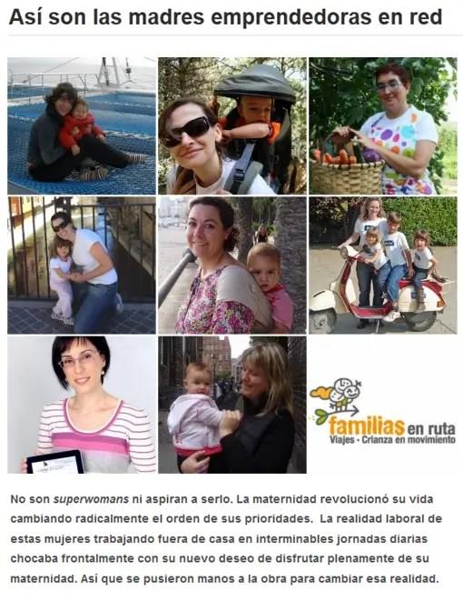 madres emprendedoras familias en ruta