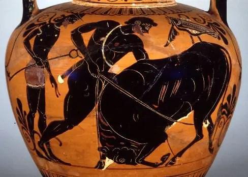 HERCULES TORO - EL MINOTAURO. La captura del toro de Creta: 2º trabajo de Hércules