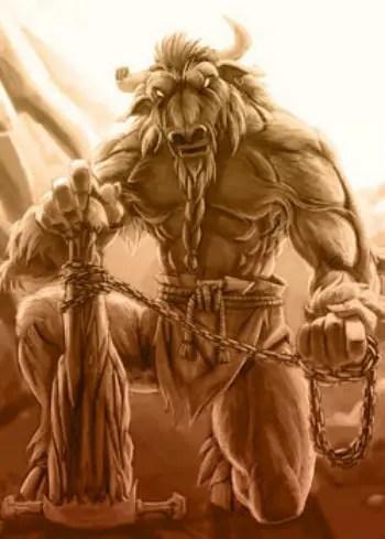 Oscuridad 2 minotauro - EL MINOTAURO. La captura del toro de Creta: 2º trabajo de Hércules