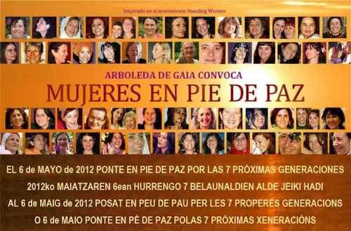 mujeres en pie de paz